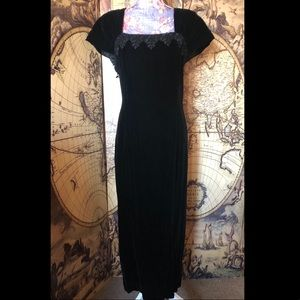 Vintage 80's Carole little velvet dress